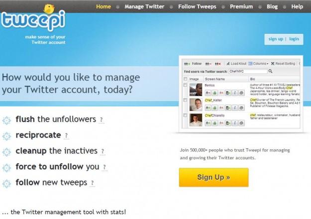 Tweepi Homepage